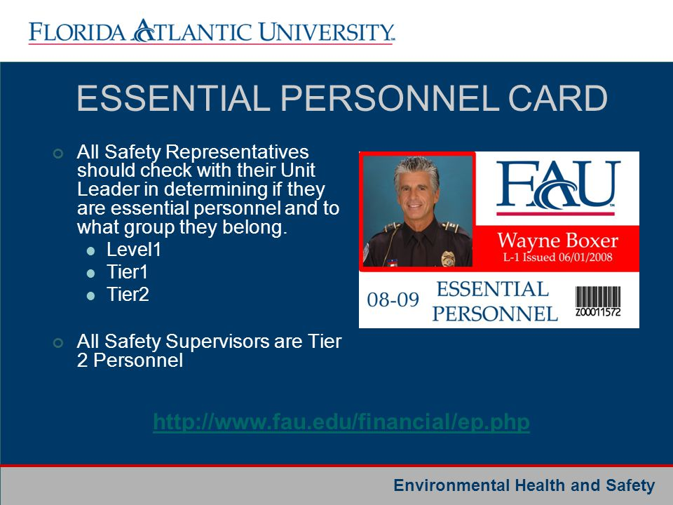 ESSENTIAL PERSONNEL CARD