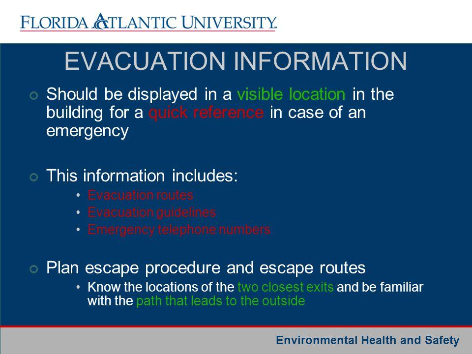 EVACUATION INFORMATION