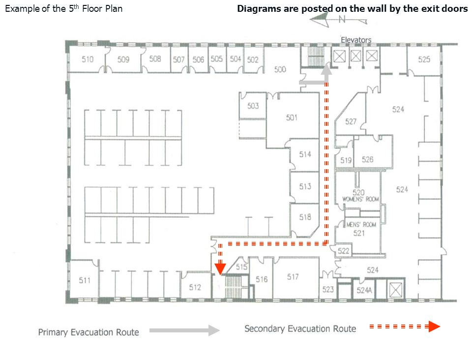 Example of the 5th Floor Plan