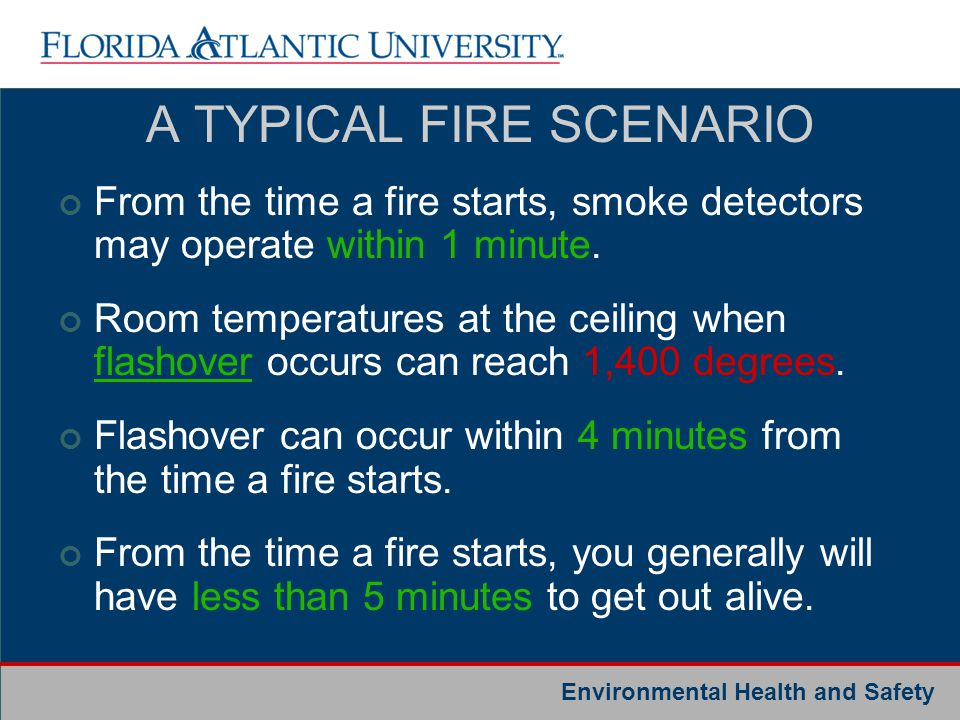 A TYPICAL FIRE SCENARIO