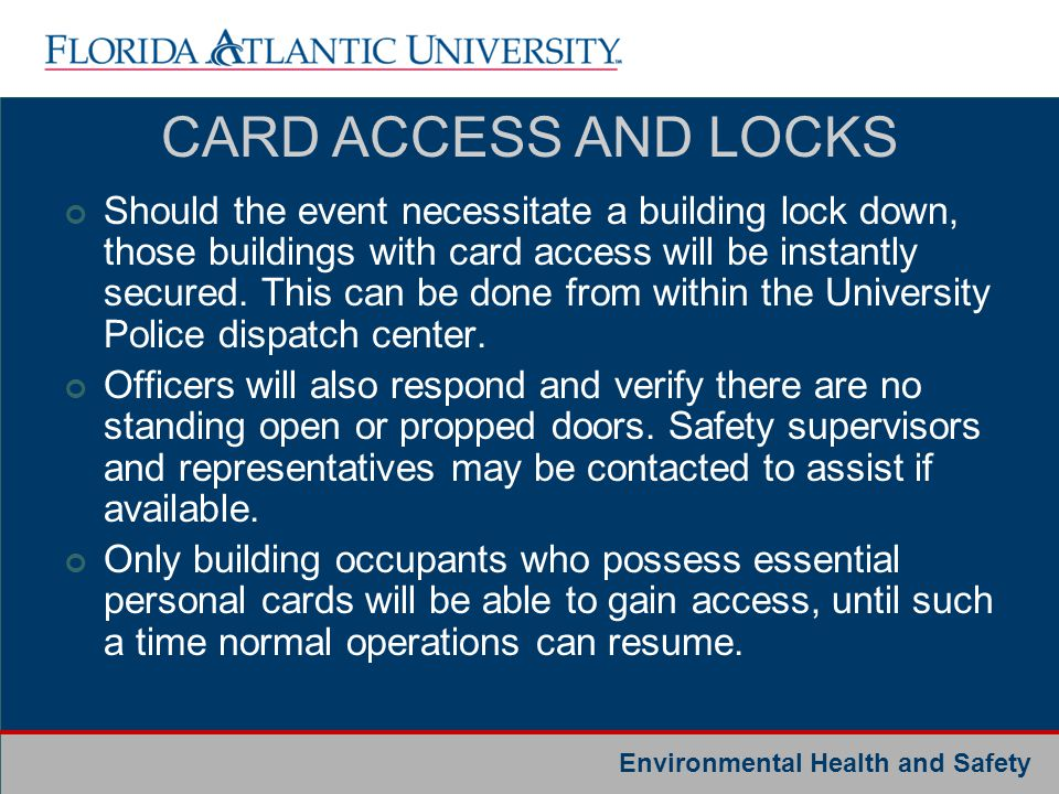 CARD ACCESS AND LOCKS