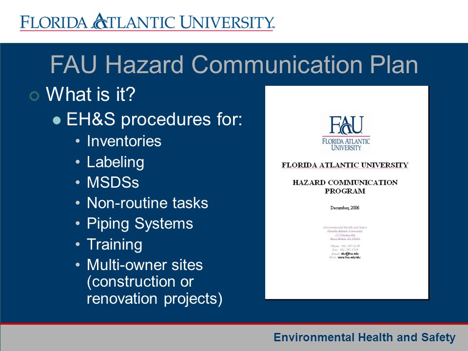 FAU Hazard Communication Plan