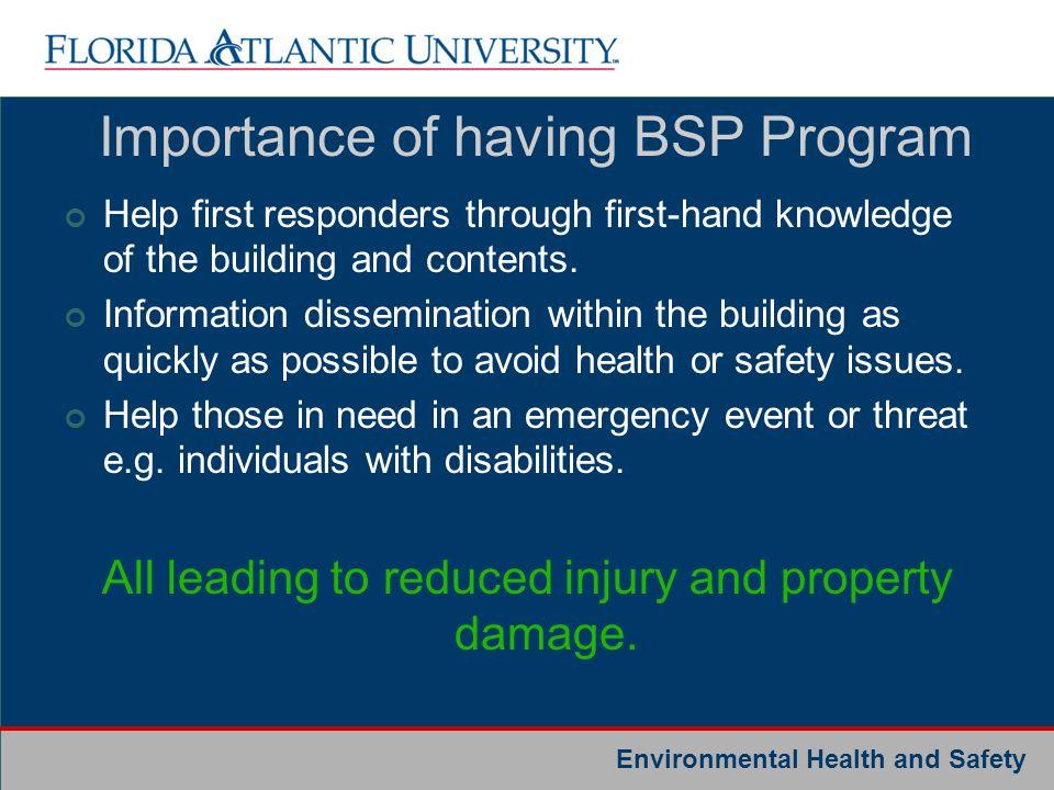 Importance of having BSP Program