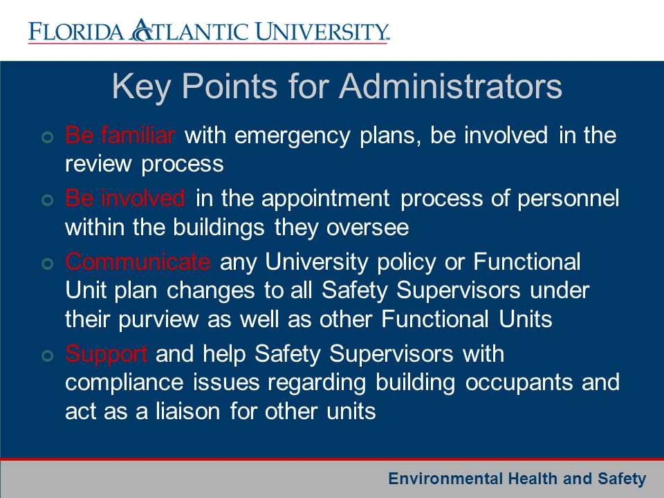 Key Points for Administrators