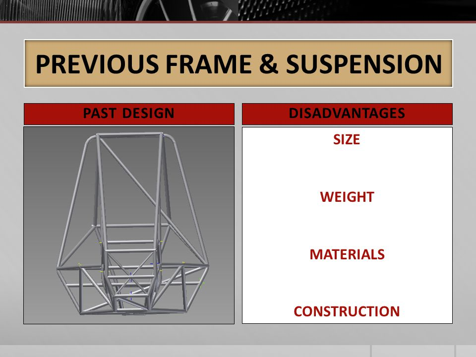 PREVIOUS FRAME & SUSPENSION