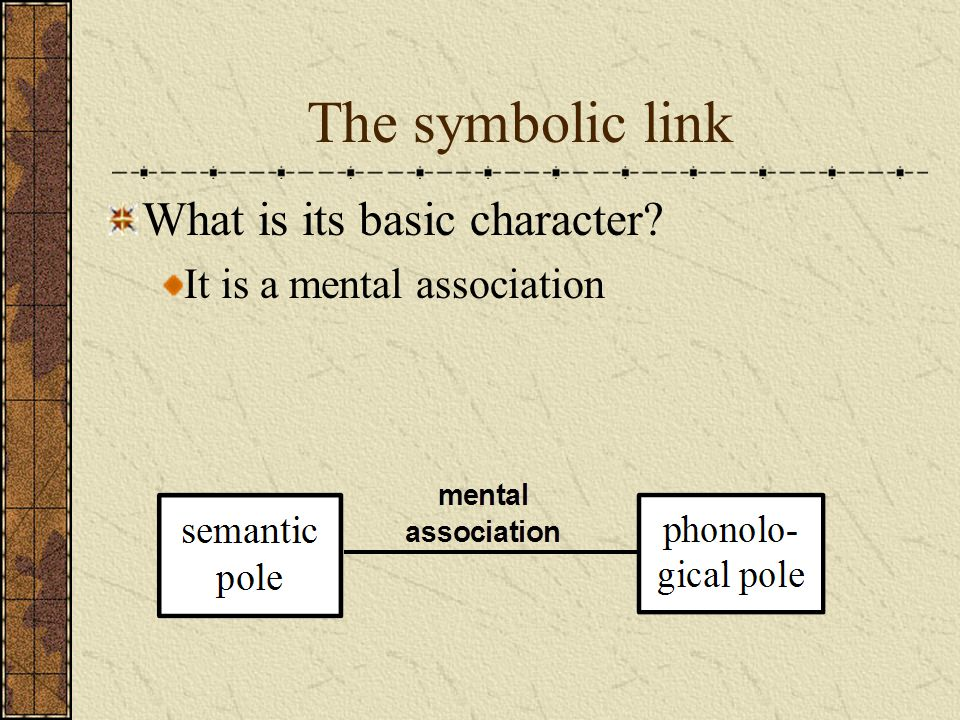 The symbolic link What is its basic character