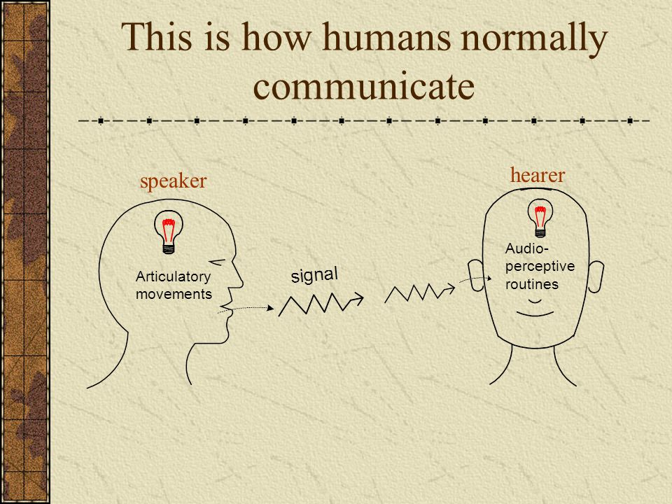 This is how humans normally communicate