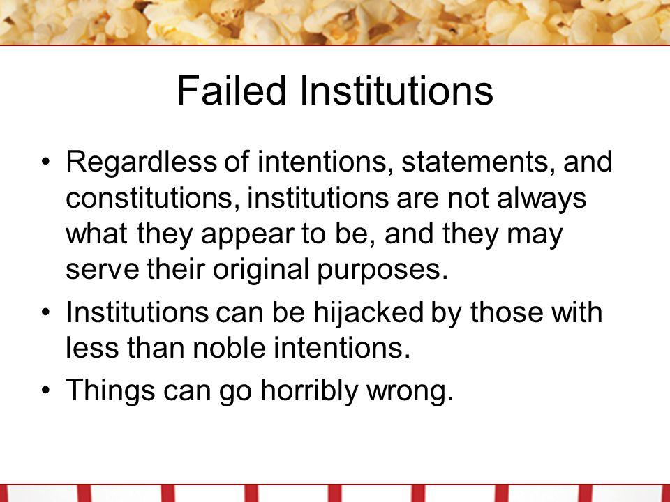 Failed Institutions