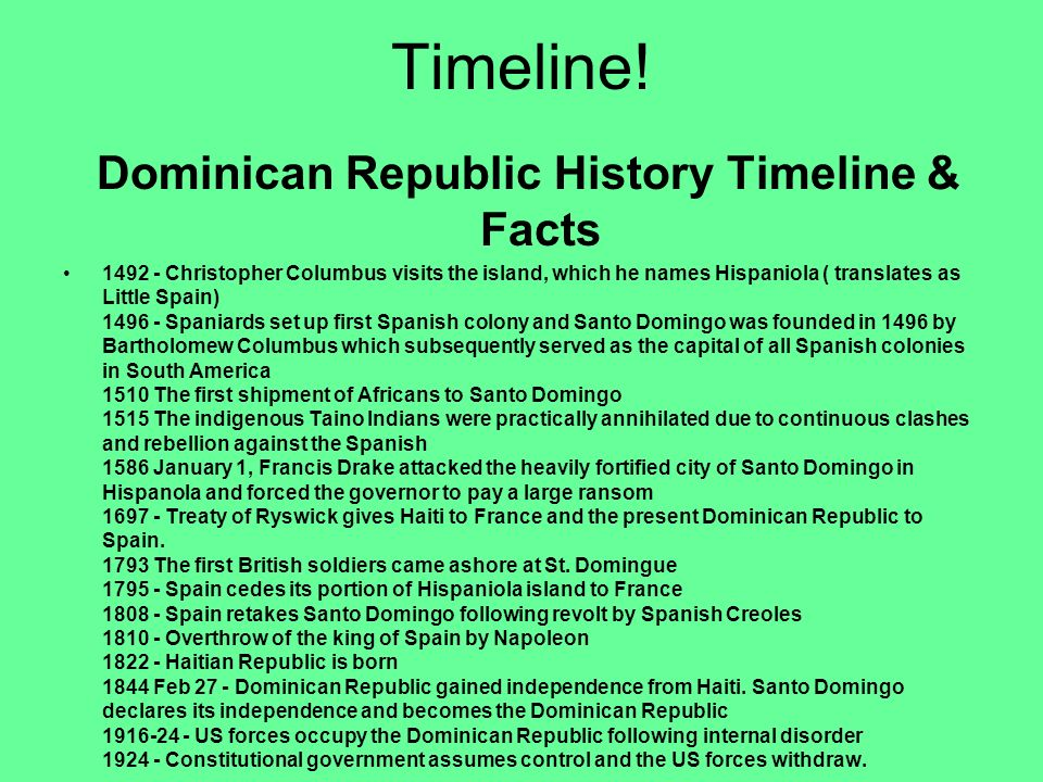 Dominican Republic History Timeline & Facts