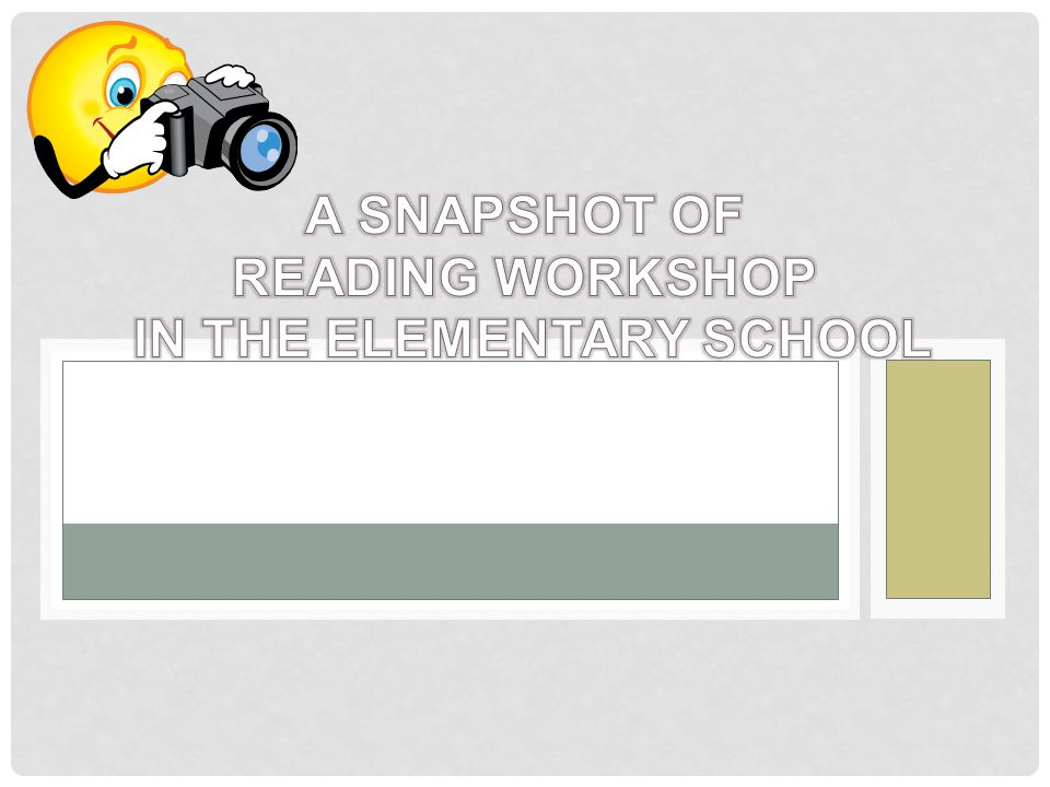 A Snapshot of Reading Workshop in the Elementary School