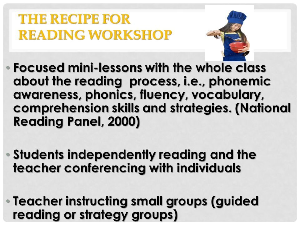 The Recipe for Reading Workshop