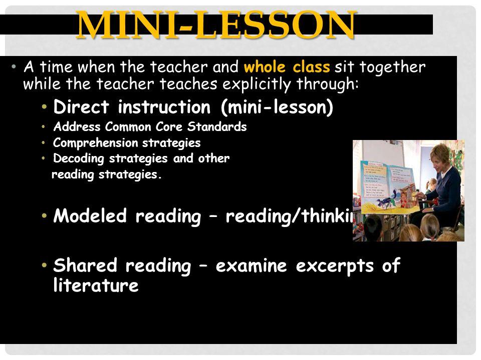 Mini-lesson Direct instruction (mini-lesson)