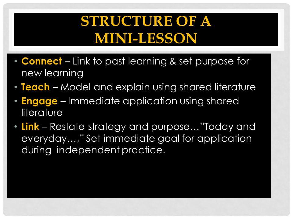Structure of a Mini-lesson