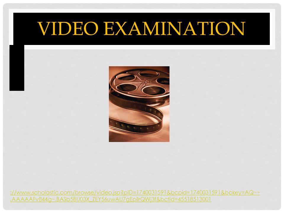 Video Examination