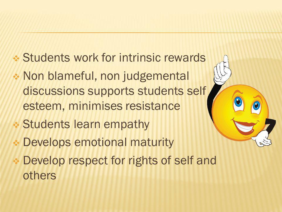 Students work for intrinsic rewards
