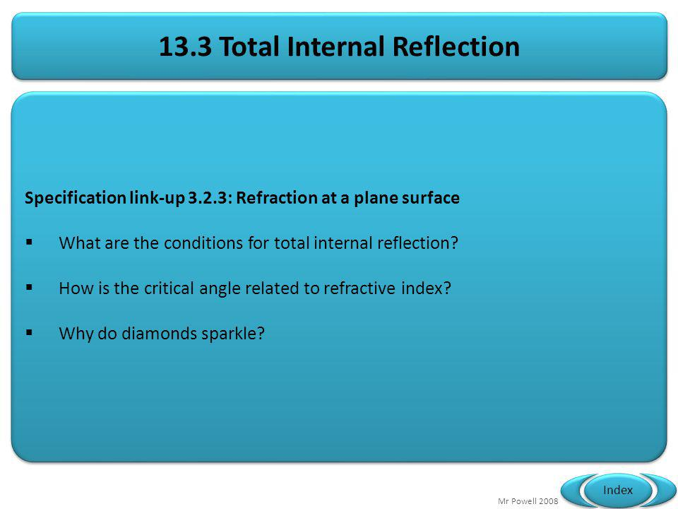 13.3 Total Internal Reflection
