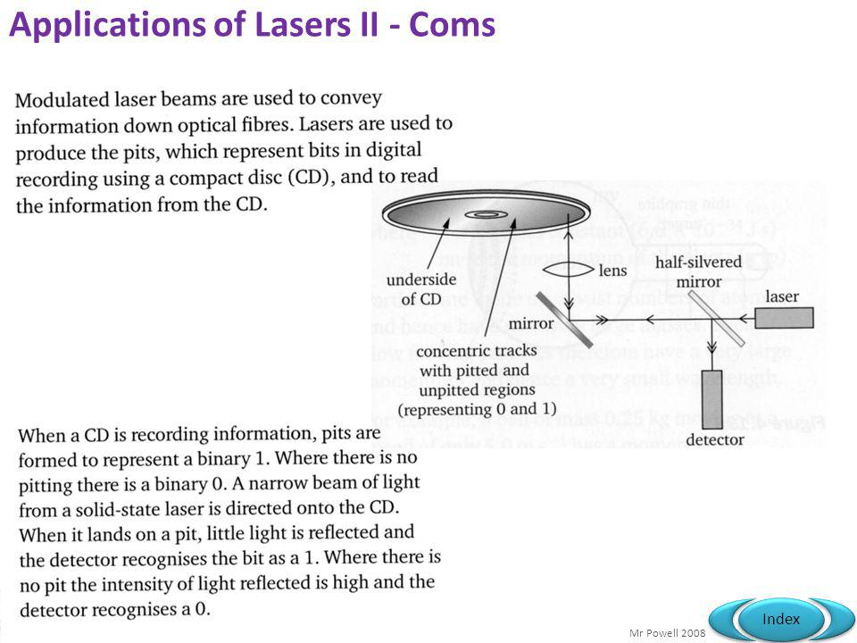 Applications of Lasers II - Coms
