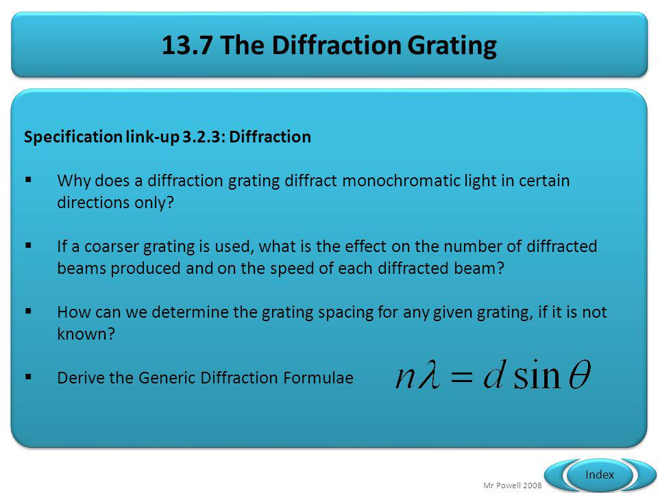 13.7 The Diffraction Grating