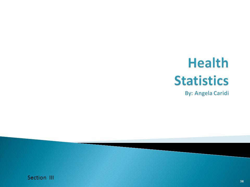 Health Statistics By: Angela Caridi
