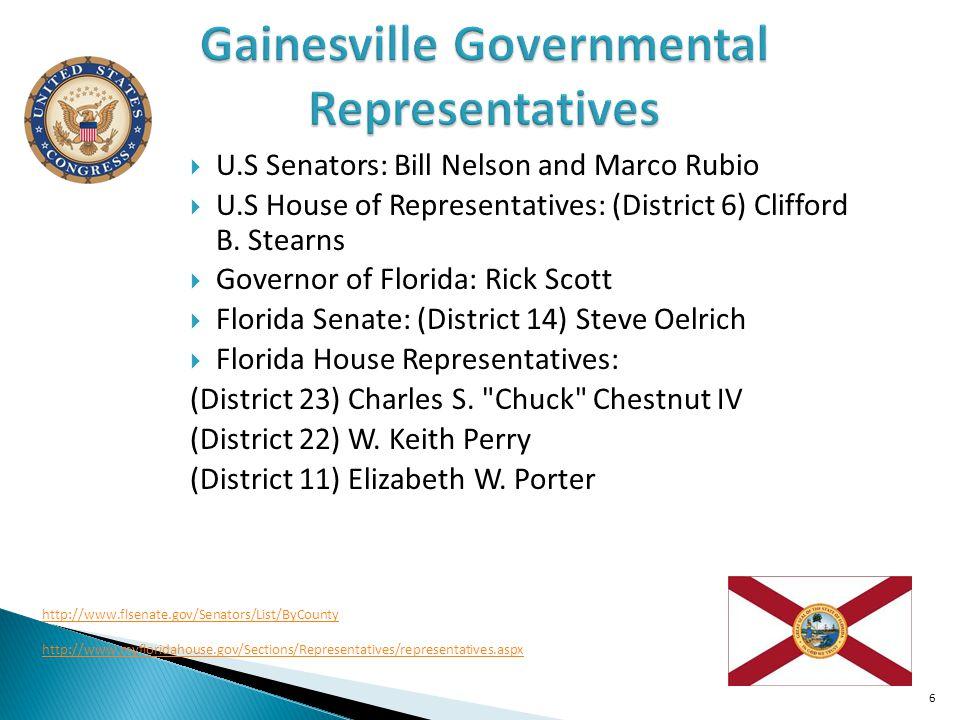 Gainesville Governmental Representatives