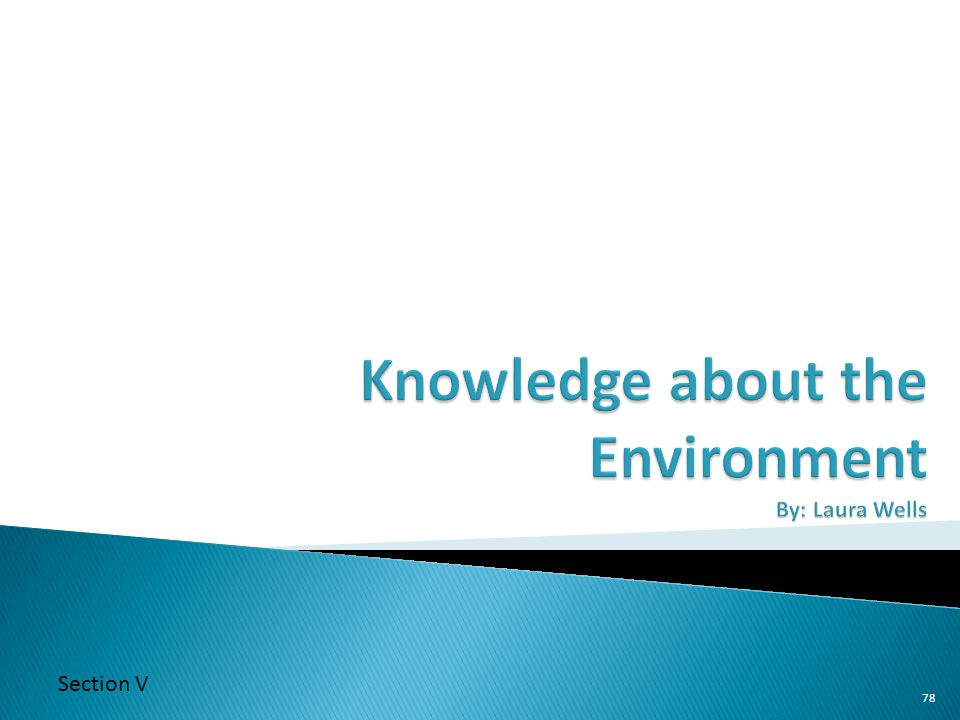 Knowledge about the Environment By: Laura Wells