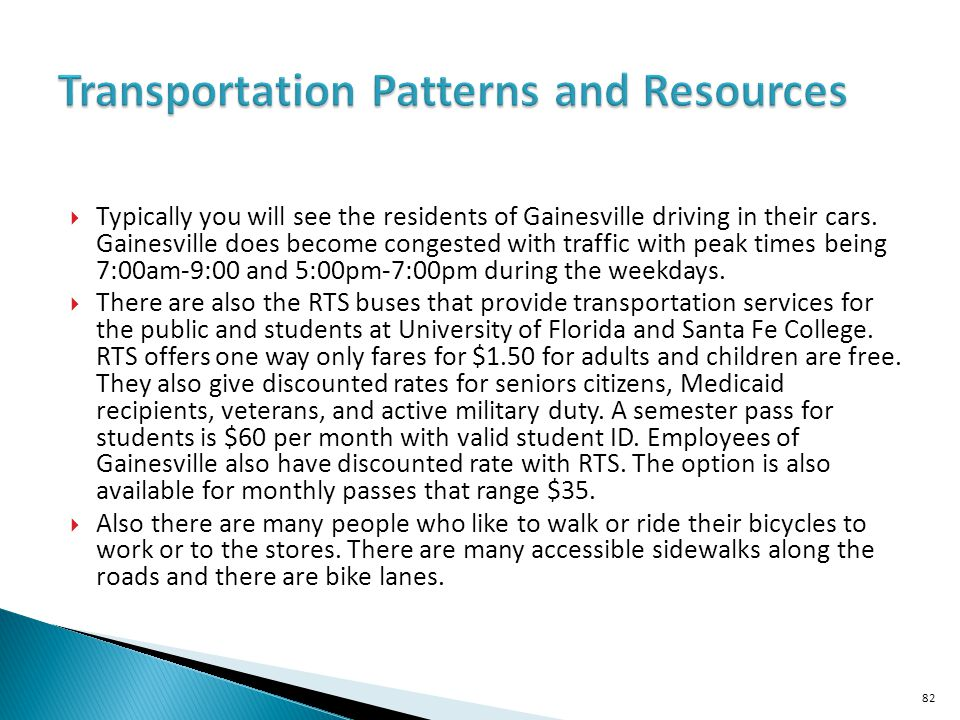 Transportation Patterns and Resources