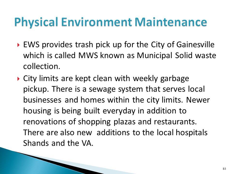 Physical Environment Maintenance