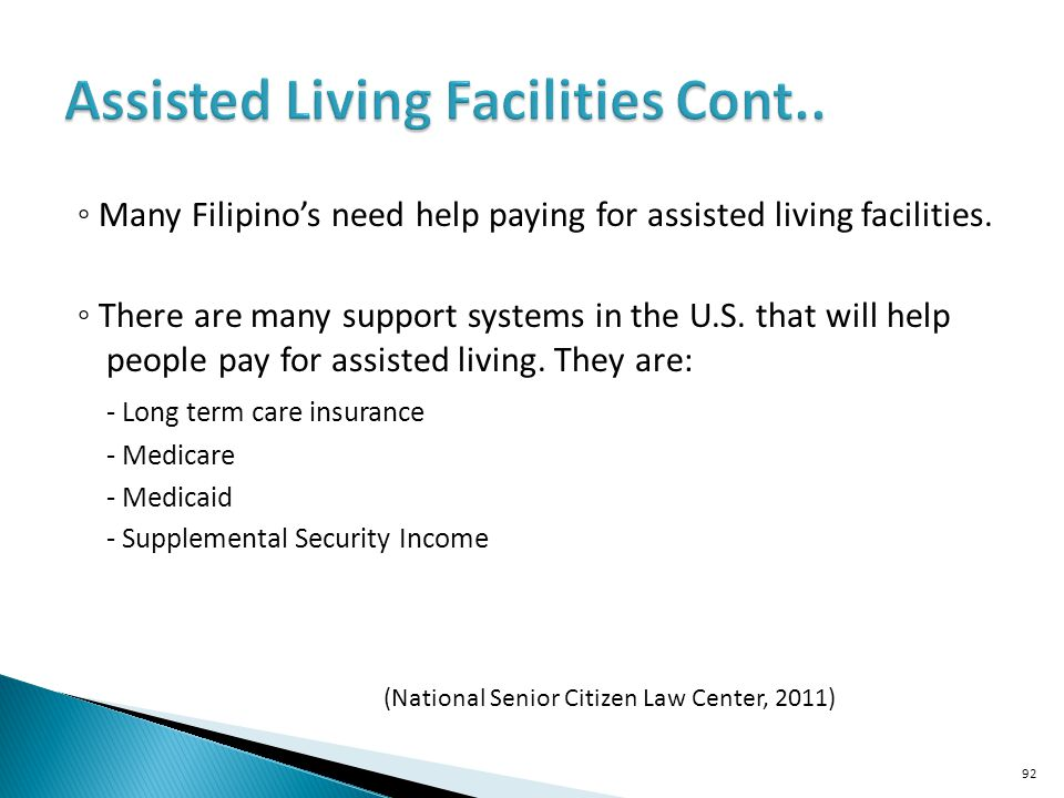 Assisted Living Facilities Cont..