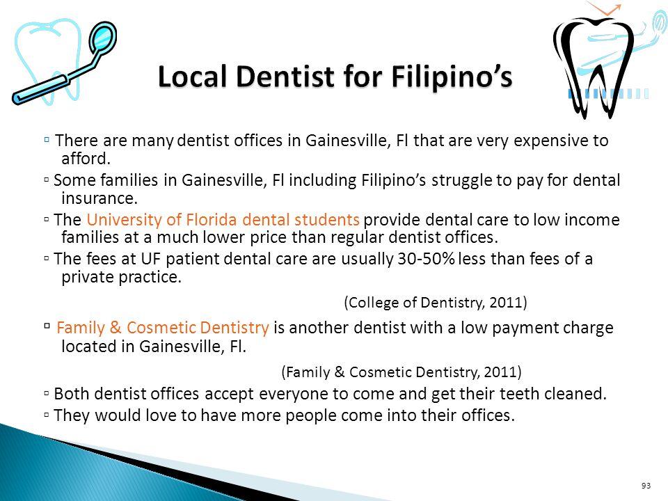 Local Dentist for Filipino's
