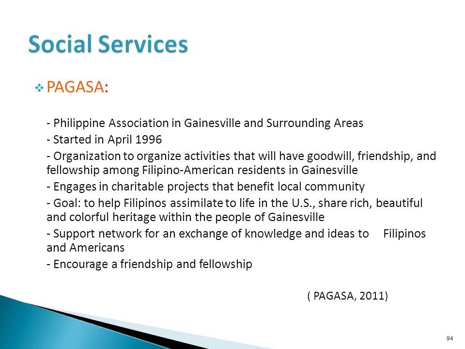 Social Services PAGASA: