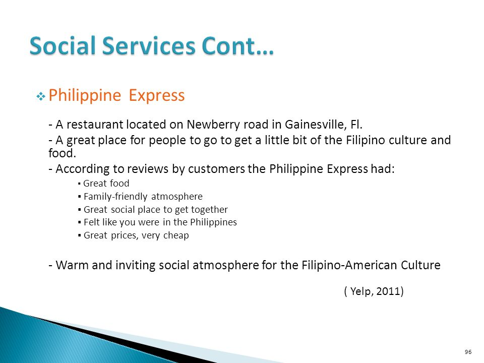 Social Services Cont… Philippine Express