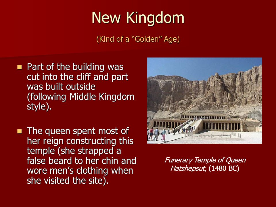 New Kingdom (Kind of a Golden Age)