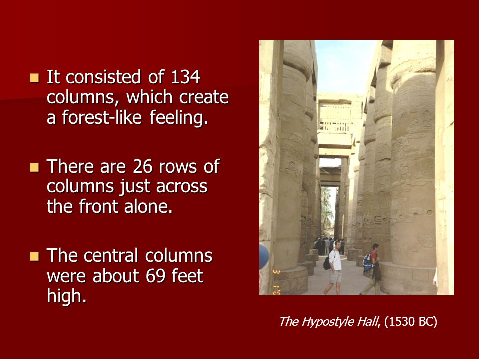 The Hypostyle Hall, (1530 BC)