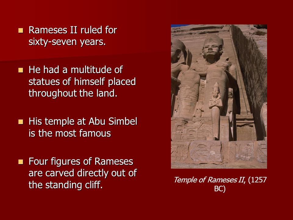 Temple of Rameses II, (1257 BC)