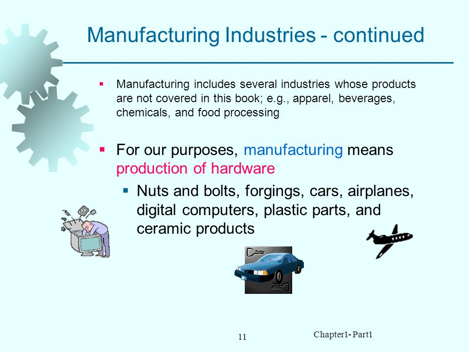 Manufacturing Industries - continued