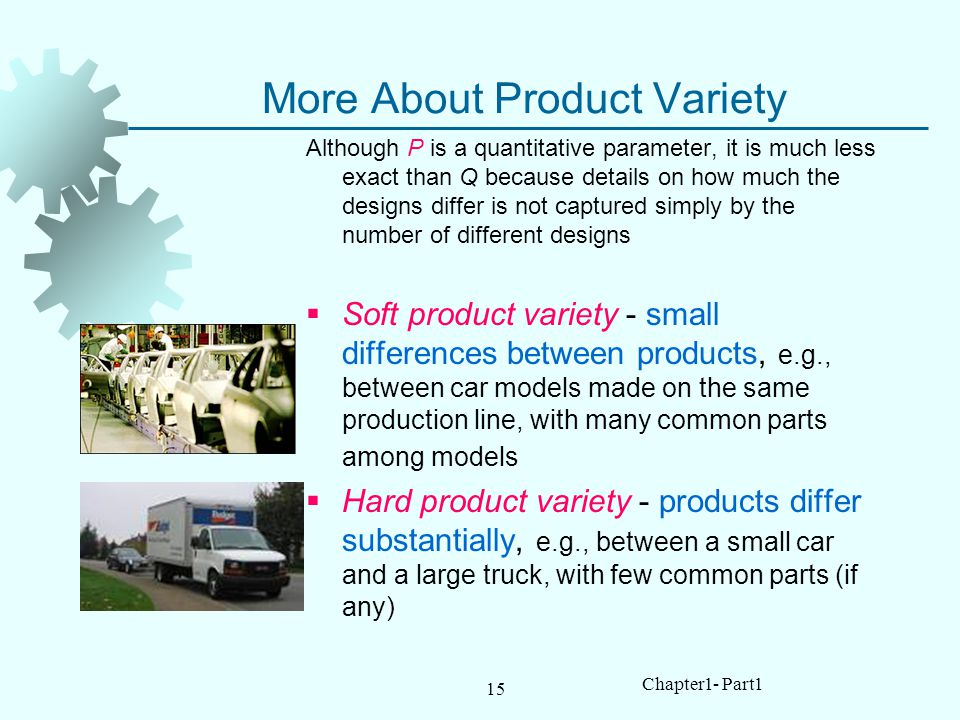 More About Product Variety