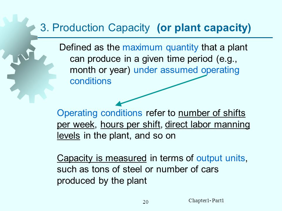 3. Production Capacity (or plant capacity)