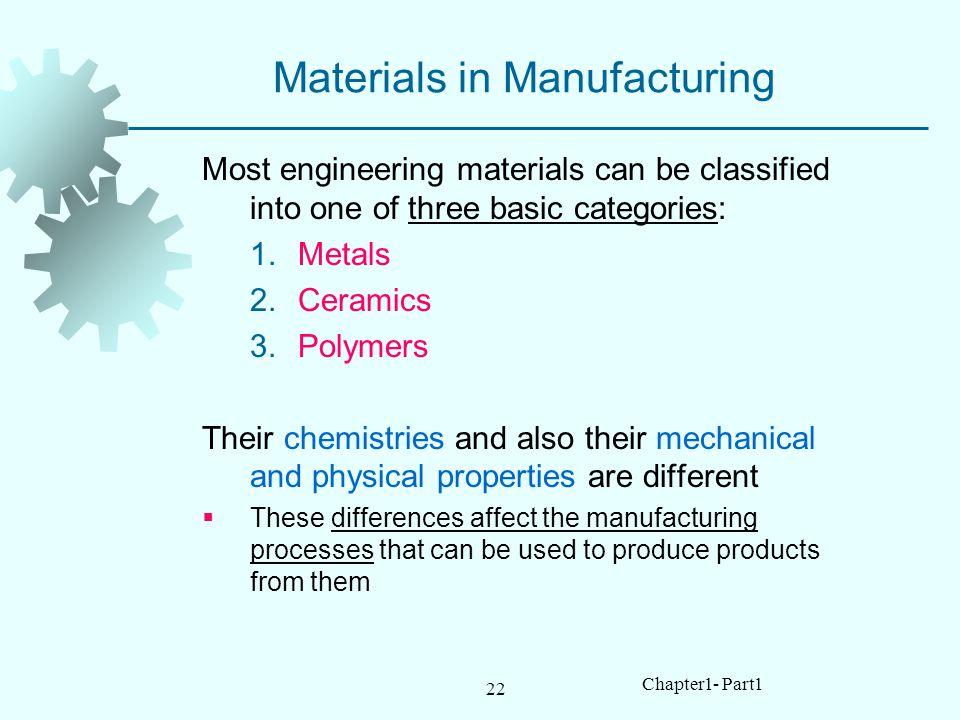Materials in Manufacturing