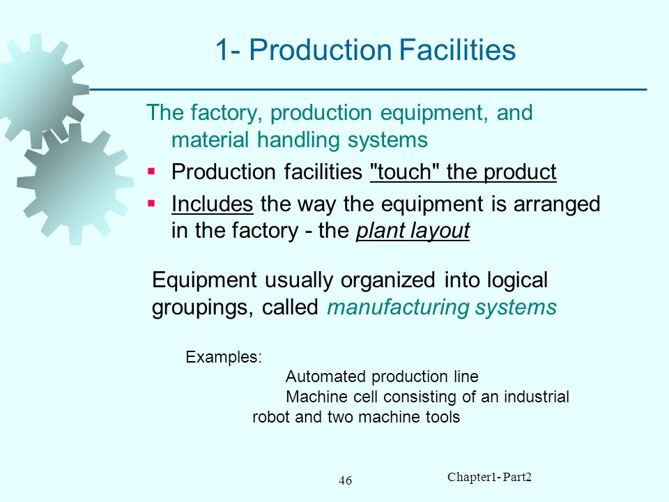 1- Production Facilities
