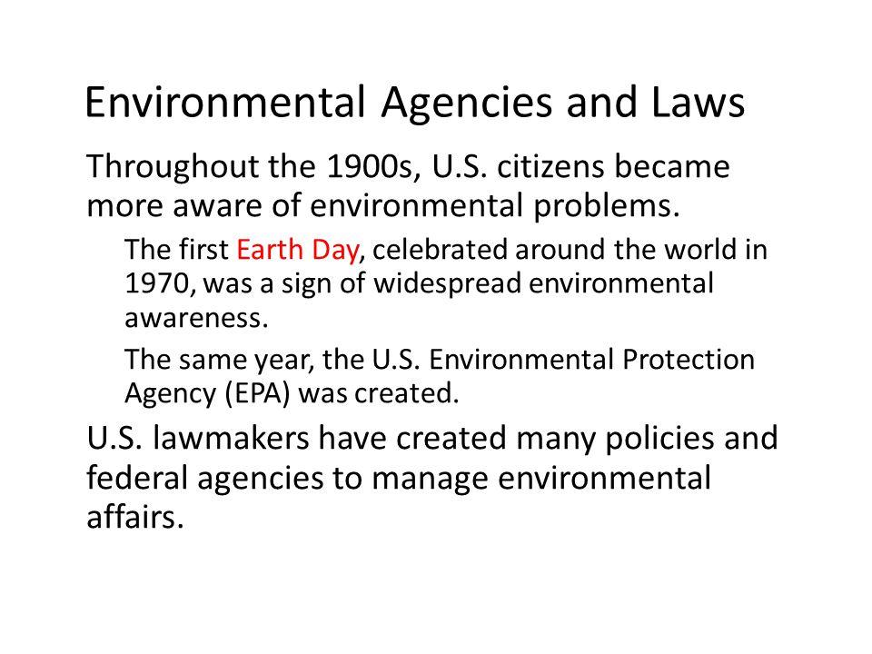Environmental Agencies and Laws