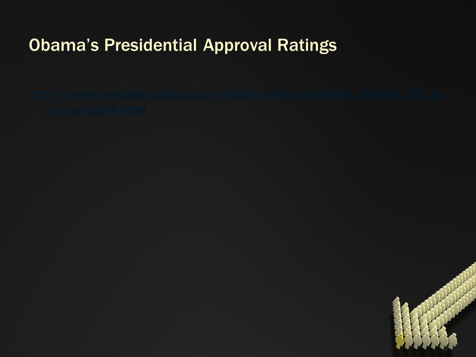 Obama's Presidential Approval Ratings