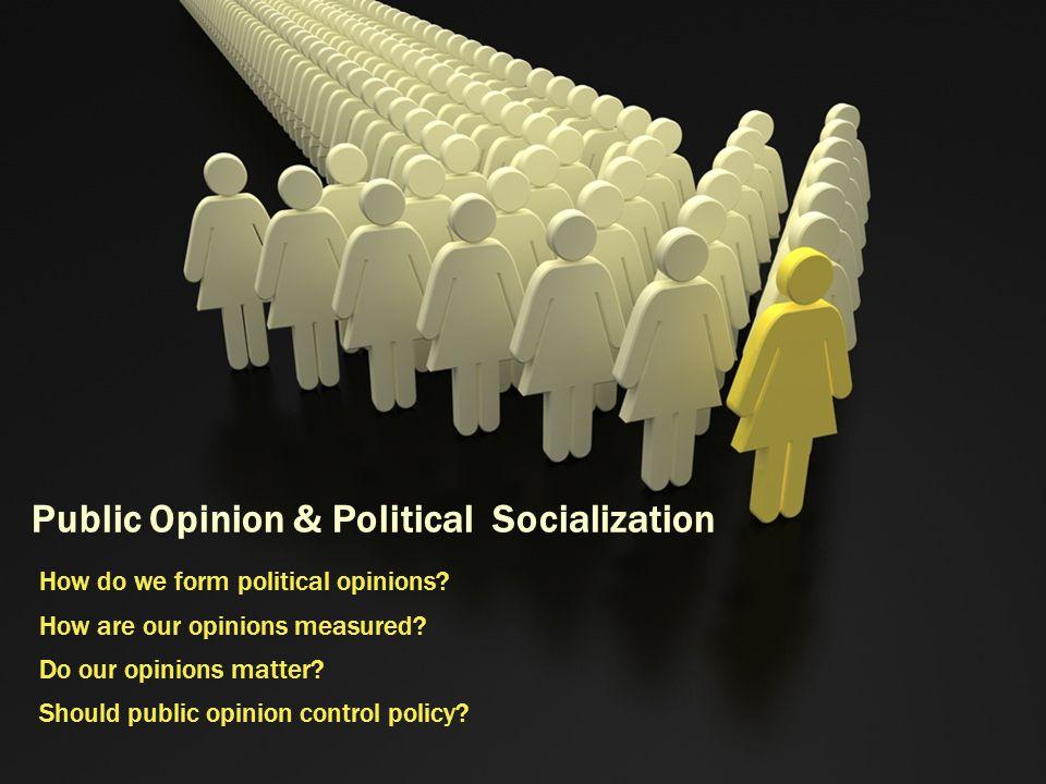 Public Opinion & Political Socialization