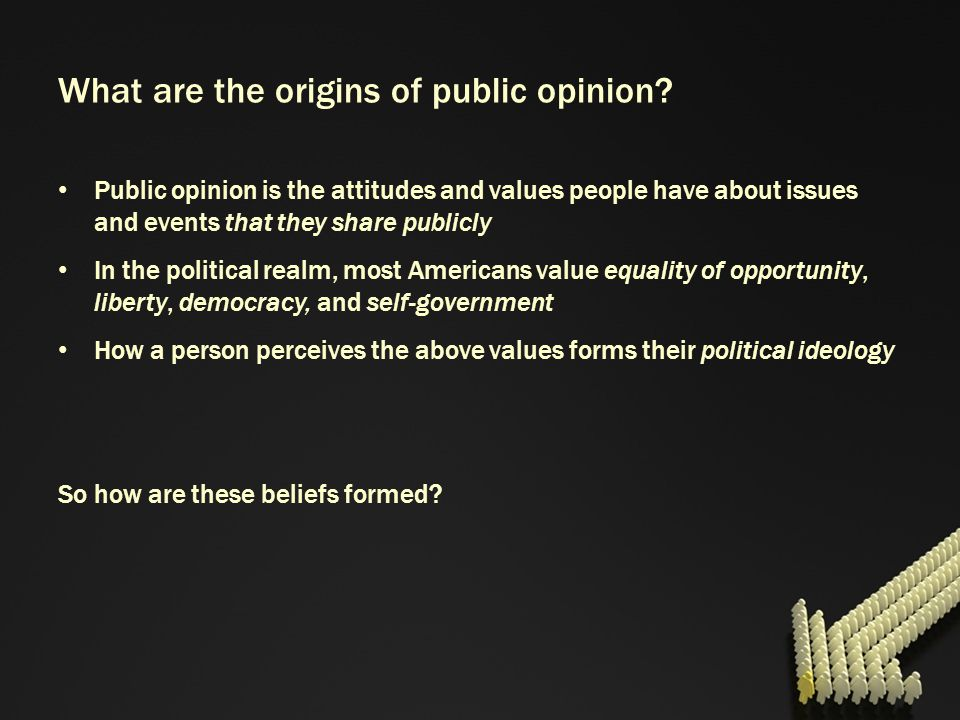 What are the origins of public opinion
