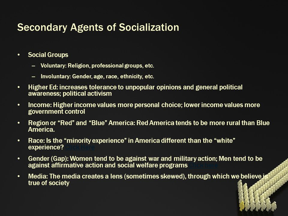 Secondary Agents of Socialization