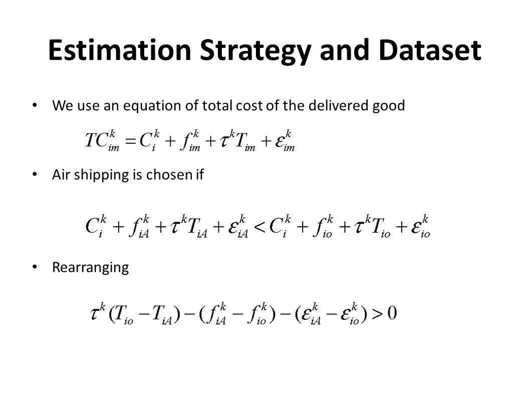 Estimation Strategy and Dataset
