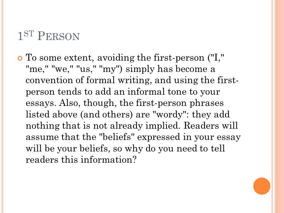 1st Person