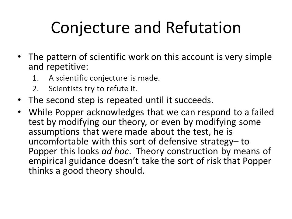 Conjecture and Refutation
