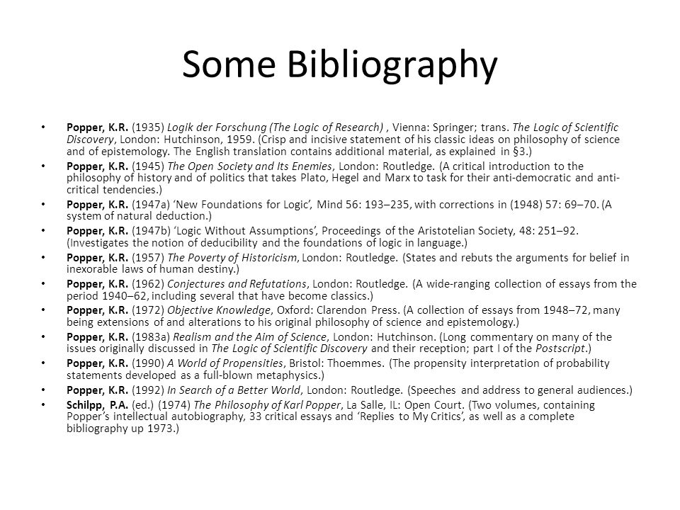 Some Bibliography