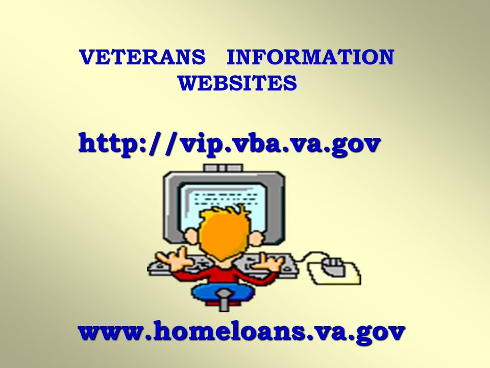VETERANS INFORMATION WEBSITES