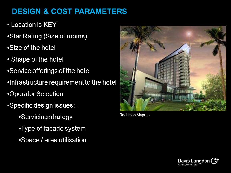 DESIGN & COST PARAMETERS